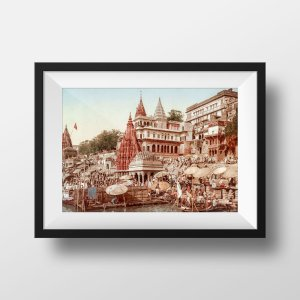 Photo Ancienne Inde Benares Varanasi