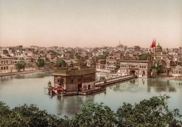 Photo Ancienne Inde Amritsar Harmandir Sahib Temple d'or
