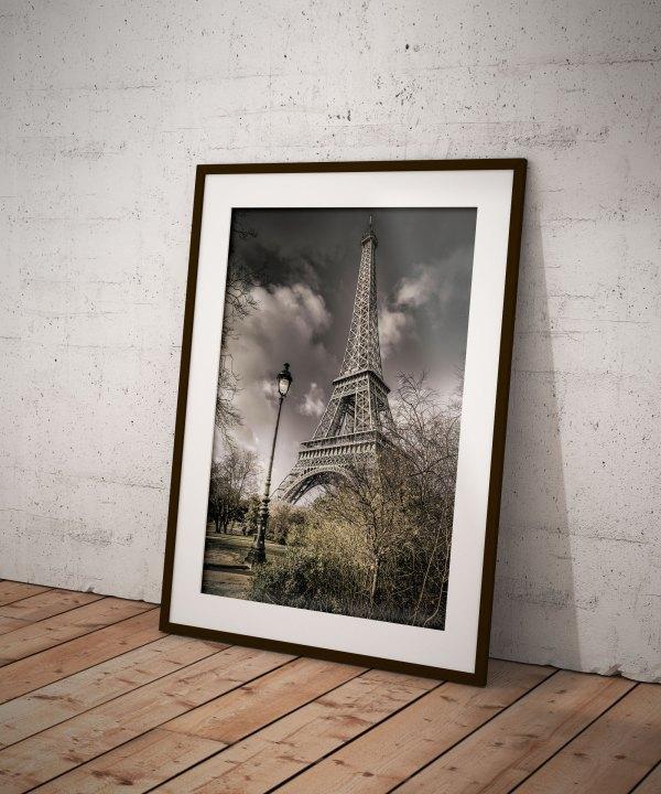 Tirage Photo Tour Eiffel Lampadaire Paris