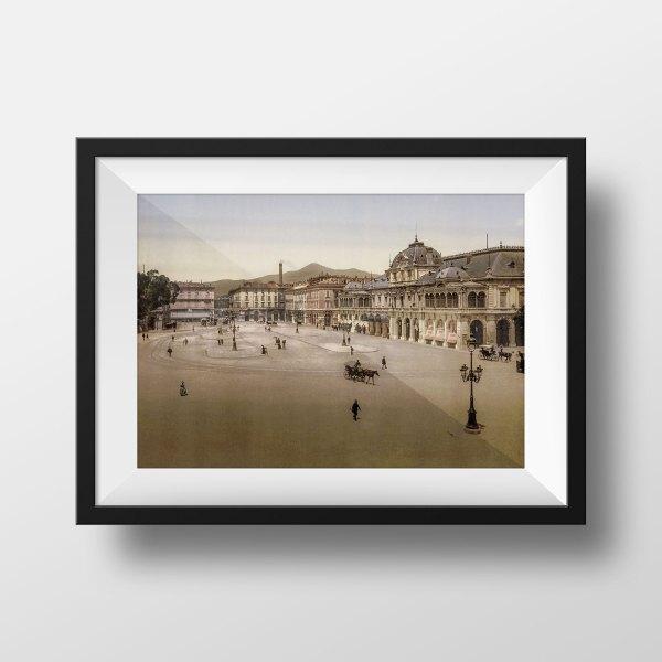 Photo ancienne nice place massena 1900