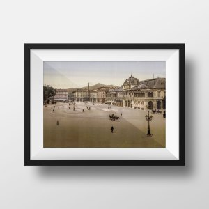 Photo ancienne nice place massena 1900