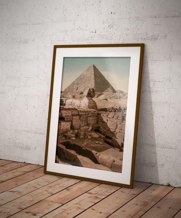 Photo Ancienne Pyramide Sphinx Egypte