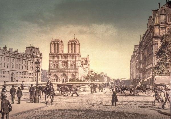 Photo Ancienne Paris Notre Dame