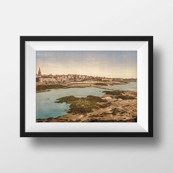 Photo ancienne Saint-Malo Les remparts
