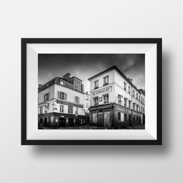 Tirage Photo de Paris Montmartre – Vieux Paris Restaurant Le Consulat