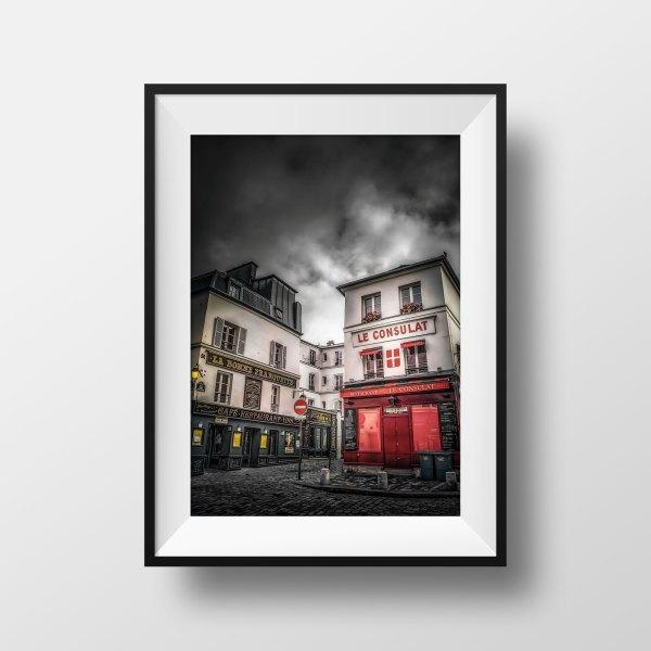 Tirage Photo Paris Montmartre Rue Norvins Le consulat