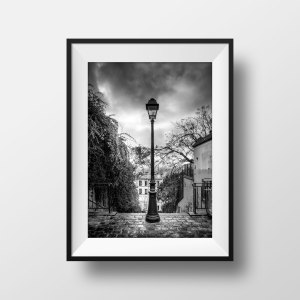 Photo Montmartre Paris Escaliers rue du calvaire