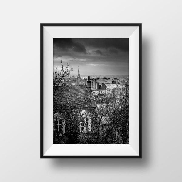 Paris La Tour Eiffel et les Toits de Montmartre