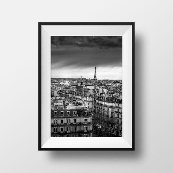 Photo Paris La Tour Eiffel et les Toits
