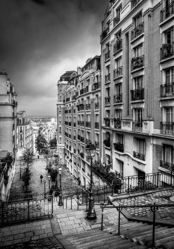 Vieux Paris Montmartre Escaliers Rue Girardon
