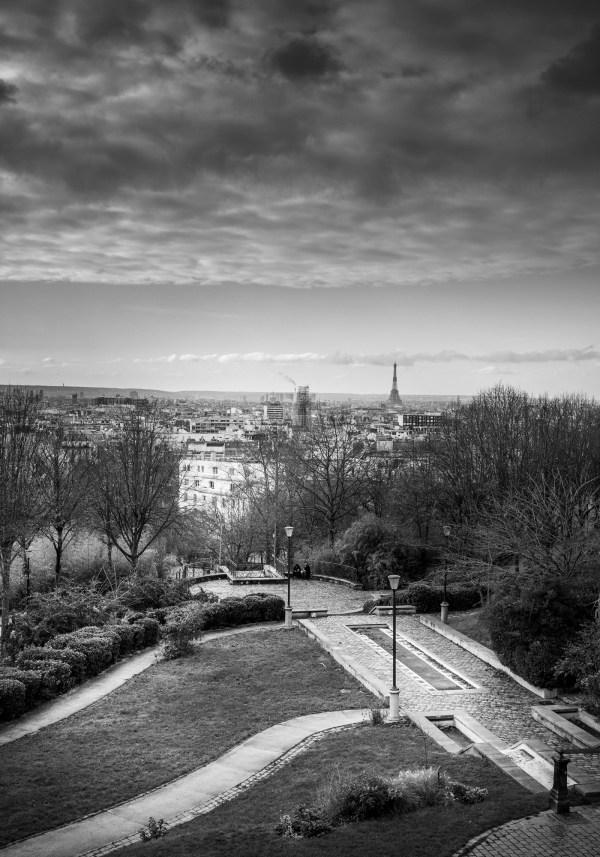 Photo de Paris Tour Eiffel Jardin Belleville