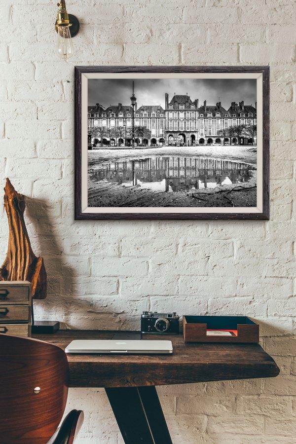 Place des Vosges Image en Noir et Blanc