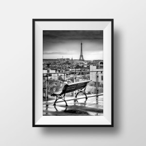 Tirage Photo Paris La Tour Eiffel Terrasse du Printemps