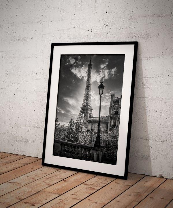 Tirage Photo Tour Eiffel Paris Noir et Blanc