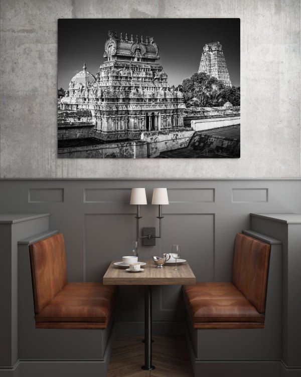Photo Noir et blanc Inde Gopuram Srirangam