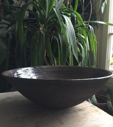 Coupe noire, diamètre 35 cm
