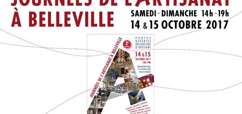 2ème édition des Journées de l'Artisanat de Belleville // 14-15 octobre 2017