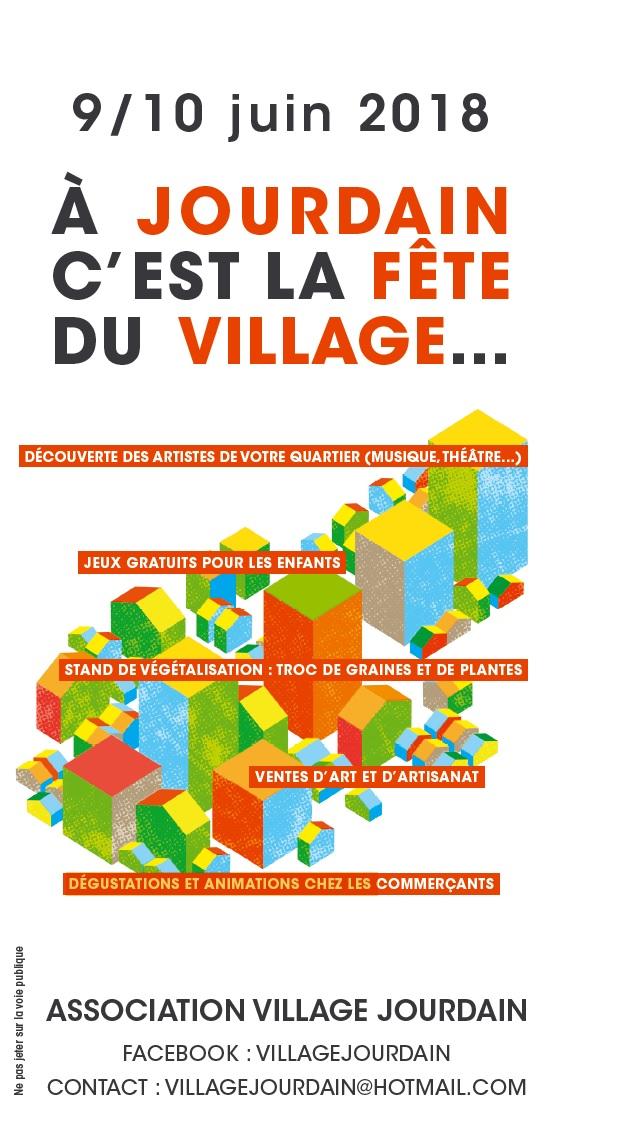 Flâneries du Village Jourdain – 9 et 10 juin 2018