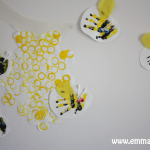 Bottle Top Beehive with Hand Print Bees-05