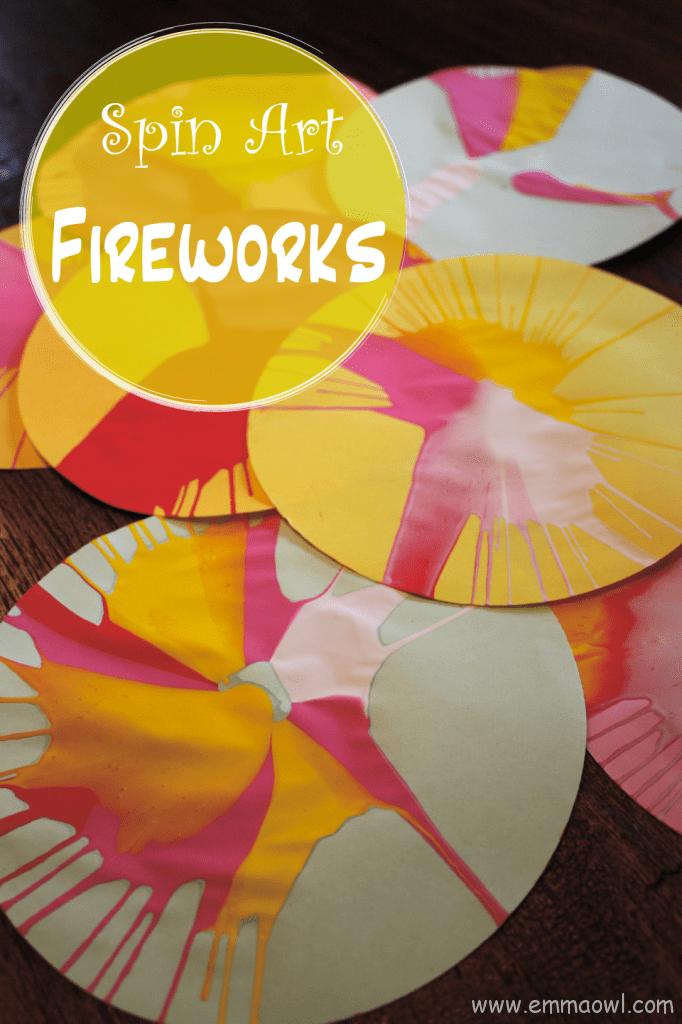 Spin Art Fireworks