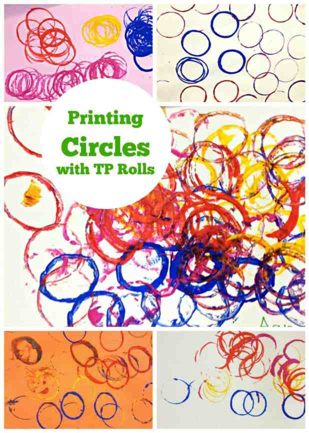 Printing Circles with toilet paper rolls