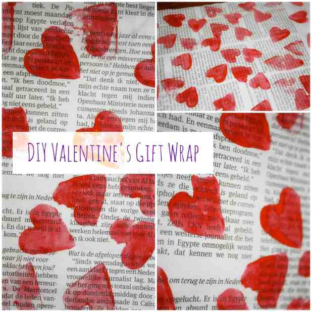 DIY Valentines Gift Wrap Easy to make