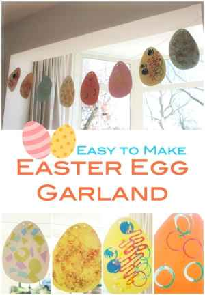 Easy to Make Easter Egg Garland