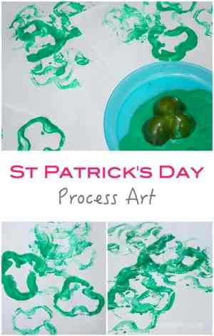 St Patricks Day Process Art Project for Kids - east to make shamrock craft idea!