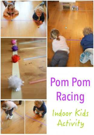 ENERGY BUSTERS - indoor activity - pom pom racing is both heaps of fun and educational!