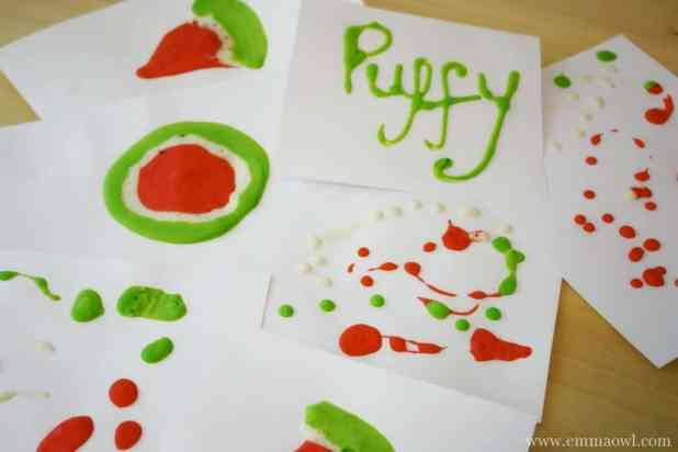 DIY Puff Paint Watermelon Painting