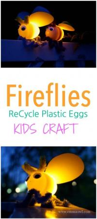 This is a spectacular kids craft project that makes use of all those empty plastic eggs. These will result in lots of squealing and smiling!