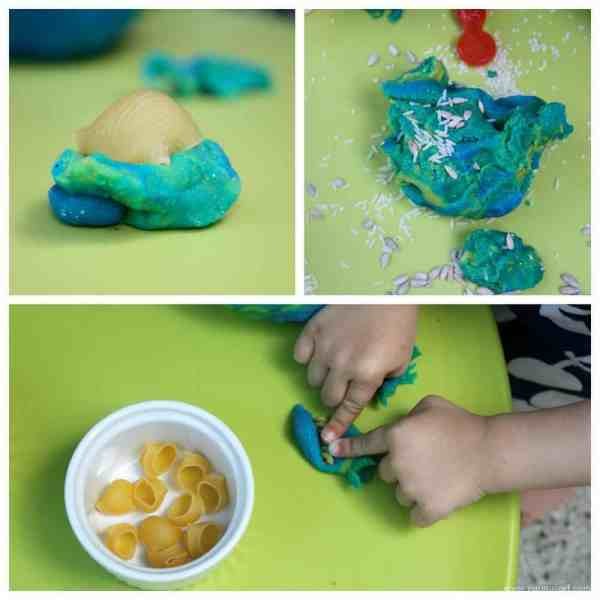 Cooking with Play Dough. A fun sensory kids play activity.