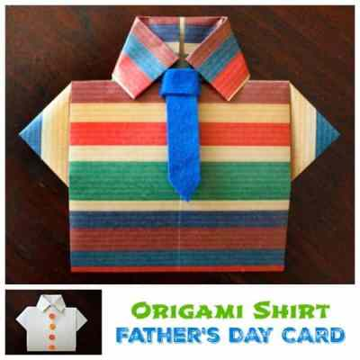 Father's Day Origami Card… | Origami shirt, Origami cards, Origami | 400x400