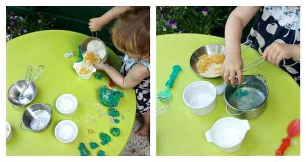 Sensory Play with Play Dough