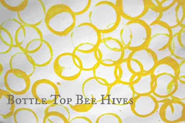 Bottle Top Bee Hive printing