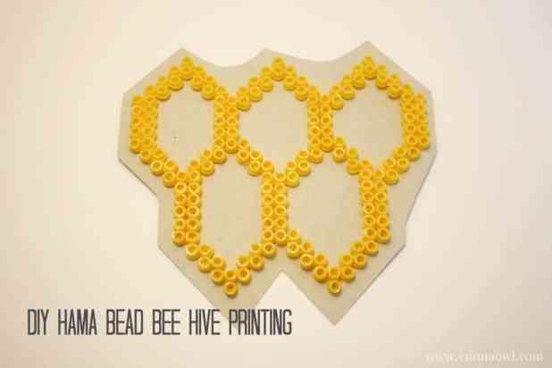 DIY Hama Bead Bee Hive Printing