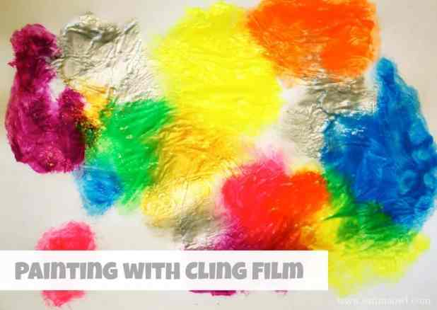 Painting with Cling Film