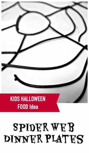 This is such an easy idea to start any halloween meal for kids - it forms the base for anything!