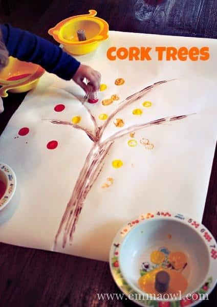Fall Cork Painted Tree
