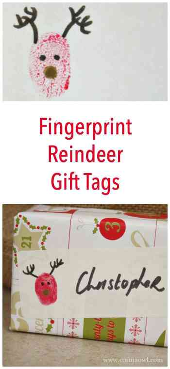Easy to make and super cute these fingerprint gift tag idea is a must for Christmas!