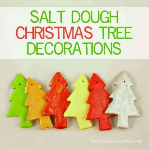 Salt Dough Christmas Tree Decorations