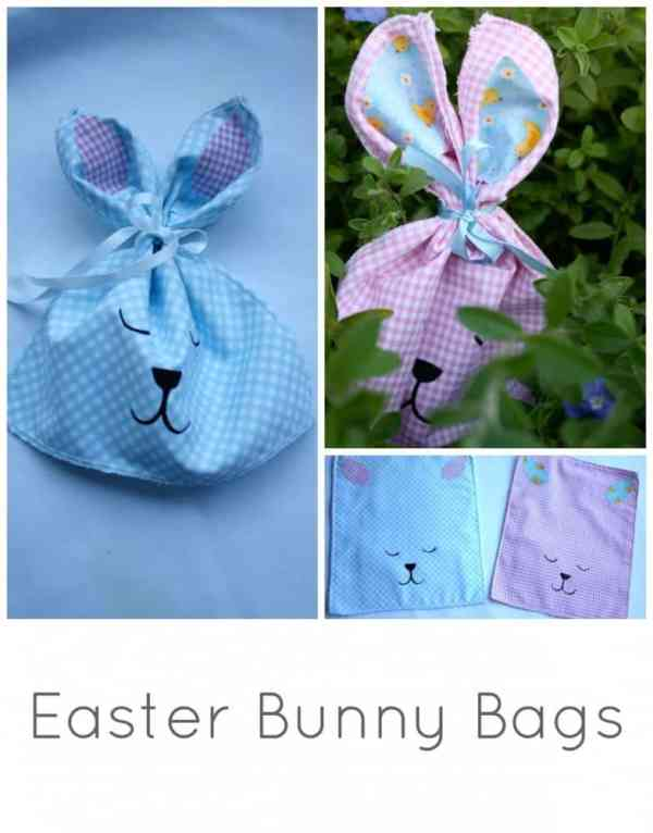 Easter Bunny Bags. Craft project for Easter - your Kids will LOVE these.
