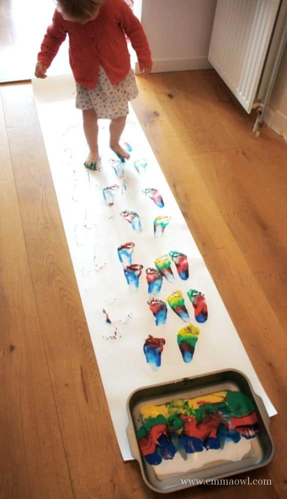 This is a great way to paint with children!