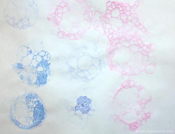 Bubble Blowing Painted Hydrangeas