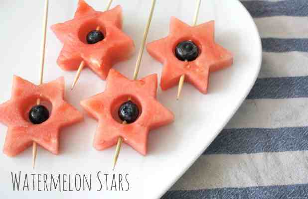 Easy 4th July Project. Watermelon Stars