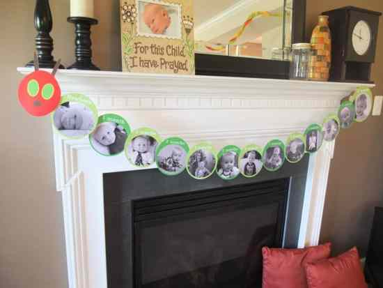 The Very Hungry Caterpillar Bunting Decorating Idea