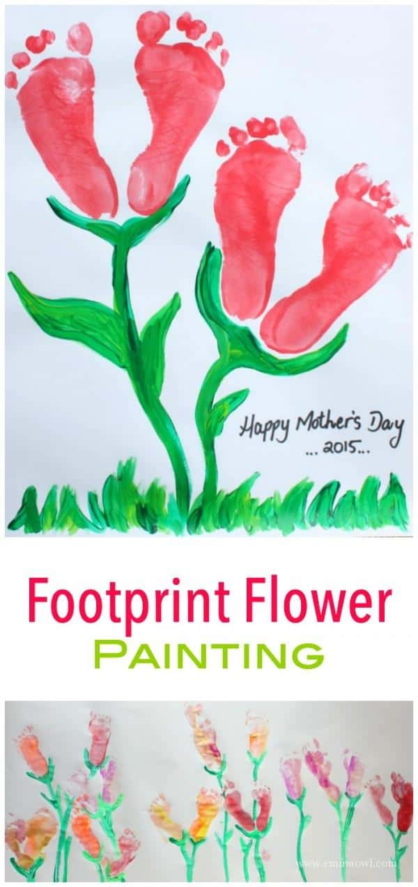 This Footprint Painted Flower Is A Wonderful