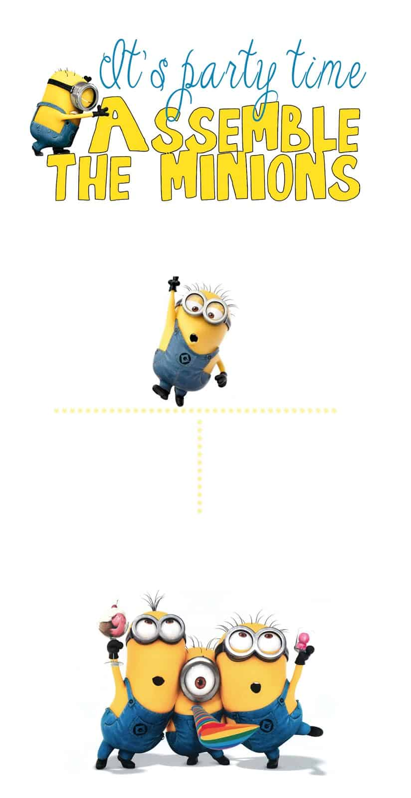 graphic relating to Minion Printable Cutouts named 30 MINION Tips! Acquire the Minions!! - Emma Owl