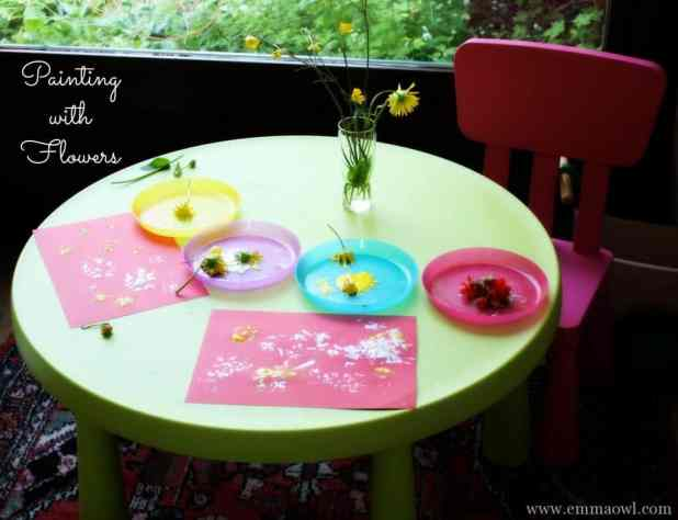 Painting with Flowers. Great summer art