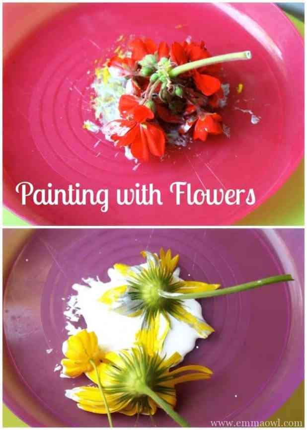Painting with Flowers. This is a great spring and summer time activity
